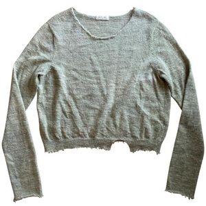 LoveShackFancy Alpaca Frayed Cropped Sweater XS